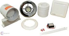 SL100TWC Bathroom Shower Extractor Fan LED Light Kit Chrome Grill - Std or Timer