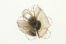 F118 Rose Centre & Bead Sinamay Fascinator on Hair Clip for Mother of the Bride