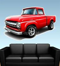 1957 F100 Pickup Truck WALL GRAPHIC DECAL MAN CAVE MURAL PRINT 7321 Ford NWT