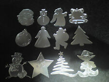 Mirrored Christmas Tree Decorations,Acrylic mirror,Various Designs/Christmas