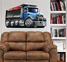 Mack Dump Truck Hauler Cartoon WALL GRAPHIC FAT DECAL MAN CAVE MURAL 9460