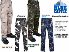 Mens Army Cargo Camo Combat Casual Trousers Military Pants. Excellent Value!