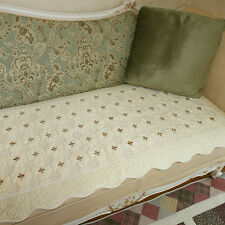 Ivory Micofibre Soft Sofa Couch Mat 1~5Person Slipcover, sofabed cover / NEW