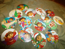 Pre CUT DORA CHRISTMAS One Inch Bottle Cap Images! FREE SHIPPING