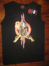 NWT MAXXOR CHAOTIC SLEEVELESS T-SHIRT,CHAOTICGAMES, BLACK,BLUE, GRAY SIZES 12-18