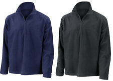 Result Core Zip Neck Micron Fleece Top Sweatshirt Jumper Mid Layer Black or Navy