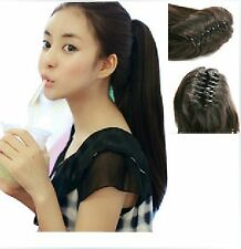 """20"""" 115G Ponytail Extensions W/Claw 100% Indian Human Hair New Fashion"""