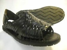 mens LEATHER MEXICAN SANDALS black HUARACHE made in mexico SHOES *ALL SIZES*