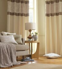 Catherine Lansfield Ivory Eyelet Curtains in Ivory 5 Sizes & Cushion Cover