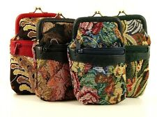 NEW LADIES TAPESTRY CLASP CLOSURE CIGARETTE FAG CIG AND LIGHTER CASE BNWT