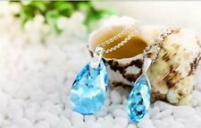 Sword Art Online SAO Asuna Pendant Heart of Yui's Blue Crystal Cosplay Necklace