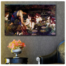 UNIQUE Waterhouse Hylas and the Nymphs ALL SIZE CANVAS Print Picture GICLEE Art