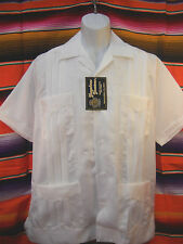authentic TRADITIONAL GUAYABERA MEXICAN WHITE WEDDING SHIRT CASUAL *ALL SIZES***