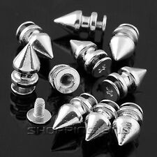 Tree Spikes Studs DIY 12mm Silver Screw Metal Leathercraft Rivet Spots Punk Rock