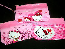 New Lovely Cute Hello Kitty Cosmetic Multipurpose Tote Bag Pouch Wrist Strap