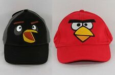 Angry Birds Kids Boys Baseball Cap Hat Black/Grey or Red One Size NWT!