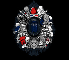 WE WERE FRAMED Doctor Who Villains Dalek TEEFURY T-shirt Womens RARE! OOP! Ript
