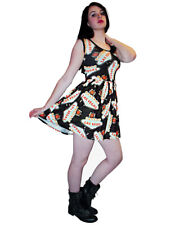 LADIES WOMENS NEW LAS VEGAS USA ROCKABILLY SWING 50'S PARTY PROM DRESS GOTH PUNK