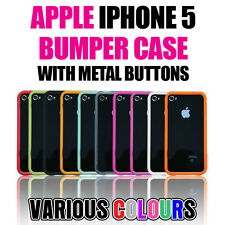 Bumper Ultra-Thin Slim Protective Case+Metal Buttons Cover✔Apple iPhone SE 5s 5