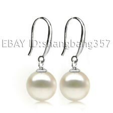 free box AAA 7-8mm 8-9mm 9-10mm natural white akoya perfect round pearl earrings