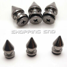 Tree Spike Studs 12mm Leathercraft Rivet Screwback Spots Pyramid Bullet Black