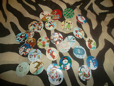 Pre Cut CHRISTMAS SNOWMAN SANTA DEER One Inch Bottle Cap Images! FREE SHIPPING