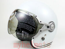 Vintage Style DOT 3/4 Motorcycle Helmet White Color