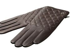 Men's Nappa Leather Thinsulate Quilted Winter Checkered touch screen Gloves