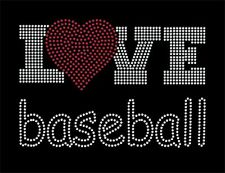 Love with heart, sports rhinestone transfer, baseball cheer volleyball and more!