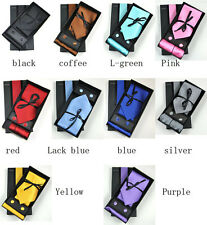 New Jacquard 100% Silk Classic Formal Neck Ties with Cufflinks and Hanky Tie Set