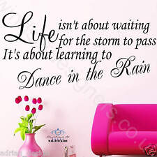 wall sticker quote DANCE IN THE RAIN... large decor
