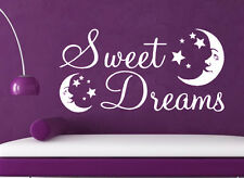 Sweet Dreams moon stars wall art sticker LARGE