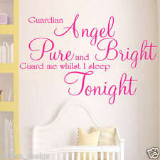 Guardian Angel children wall art sticker quote LARGE