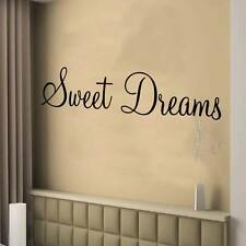 SWEET DREAMS wall art sticker bedroom decor large