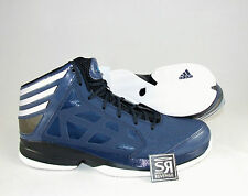 New! US 13 Adidas CRAZY SHADOW Mens Navy Blue White Basketball Shoes Trainers