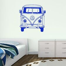 VW Camper Van Bus Vinyl Wall Art Sticker Transfer Home Decor Decal VE021