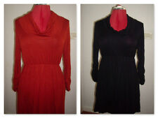 NEW Lightweight LUSHOUS Cowl Neck Dress Black OR Rust available Sizes 8 - 14