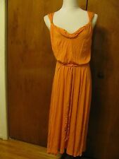 Elie Tahari Janice women's orange rayon dress Size S M L XL NWT