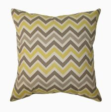 Premier Prints Zoom Zoom Sunny and Natural Chevron Decorative Throw Pillow