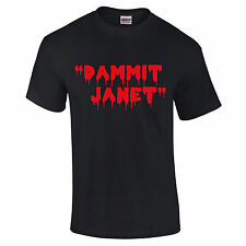 "Rocky Horror Show ""Dammit Janet"" t-Shirt Mens & Ladies S to Xxl Black or White"
