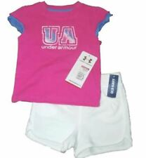 SHIRT SHORTS SET GIRLS 2 PC UNDER ARMOUR OLD NAVY SUMMER OUTFIT KIDS 18 m CLOTHE
