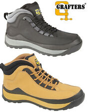 Mens New Grafters Steel Toe Cap Safety Shoes Boots Uk  6 - 12