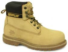 Caterpillar HOLTON Mens Oil Heat Resistant Welted Leather Safety Boots Honey New