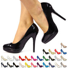 NEW STYLE IN EVE WOMENS LADIES HIGH HEEL CASUAL SMART WORK PUMP COURT SHOES SIZE