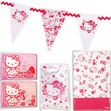 HELLO KITTY PARTY ACCESSORY / Kid Birthday Invitation Thank You Card Bunting Bag