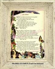 """Vintage FAIRIES in our GARDEN """"The Fairies"""" Illustrated Childrens Poem ART PRINT"""