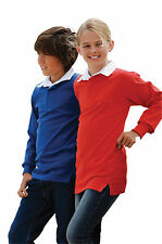 Front Row Kids Long Sleeve Plain Rugby Shirt All Sizes