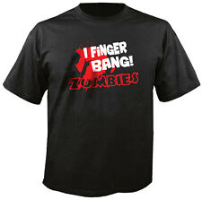 I Finger Bang Zombies Funny Left Walking for Dead Blood Gore Sex Unisex Shirt