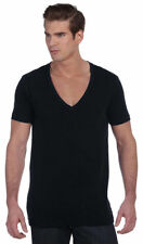 Bella + Canvas Men's Extra Deep V Neck Jersey Short Sleeve T-Shirt. 3105