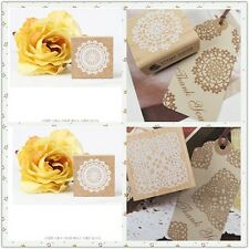 New 4 Model DIY Square wooden retro Romantic Lace pattern stamp